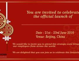 #5 para Chinese Invitation Samples de saumyasaxena