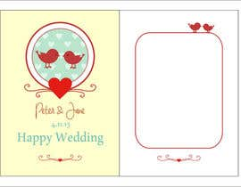 nº 33 pour Design some Stationery for a Wedding Greeting Card - repost par rakhmakurnia