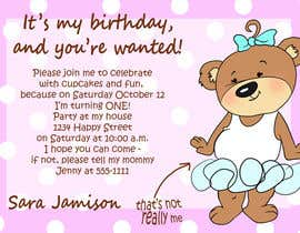#54 for Design some Stationery for Baby 1st Birthday Invitation af passion4creation
