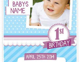 nº 21 pour Design some Stationery for Baby 1st Birthday Invitation par agustina25