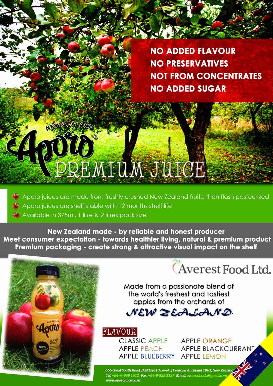Penyertaan Peraduan #                                        24                                      untuk                                         A4 flyer design for juice