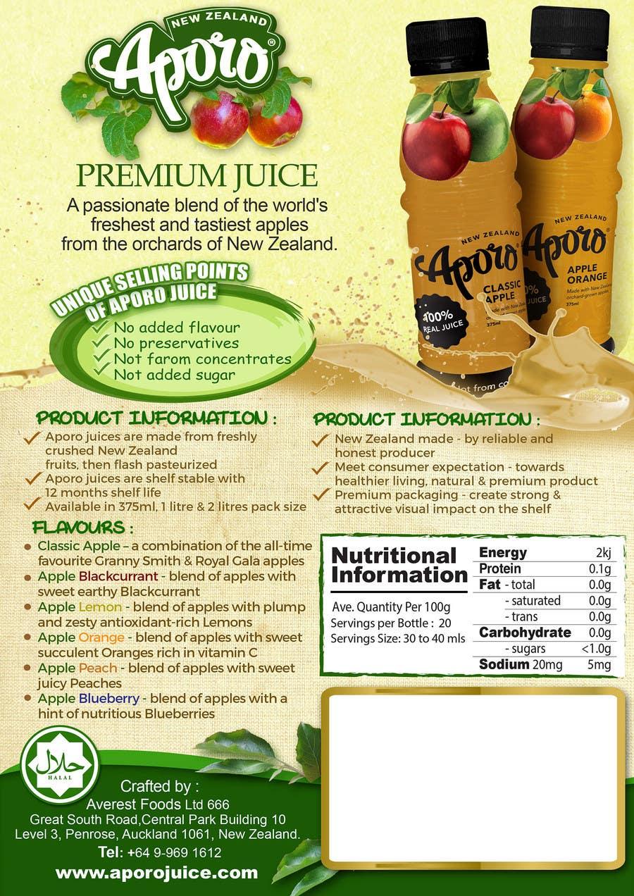Penyertaan Peraduan #                                        22                                      untuk                                         A4 flyer design for juice