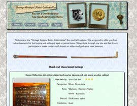 nº 18 pour New Design header for an antique/vintage/retro web site par Stuti29