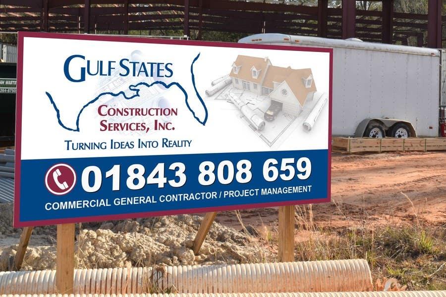 Kilpailutyö #29 kilpailussa Design a Construction Company's Sign