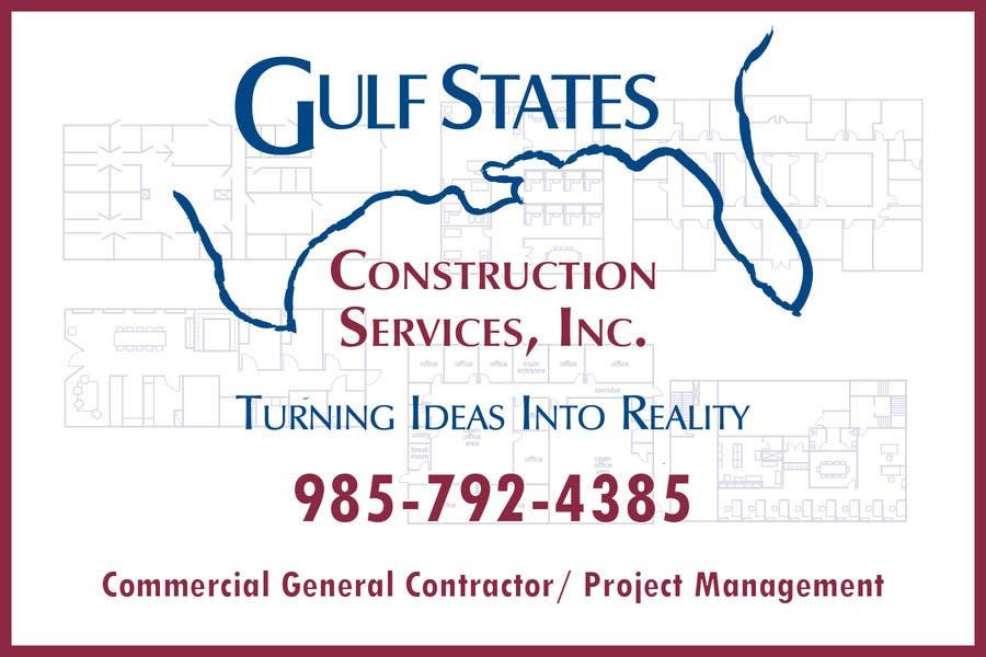 Kilpailutyö #8 kilpailussa Design a Construction Company's Sign