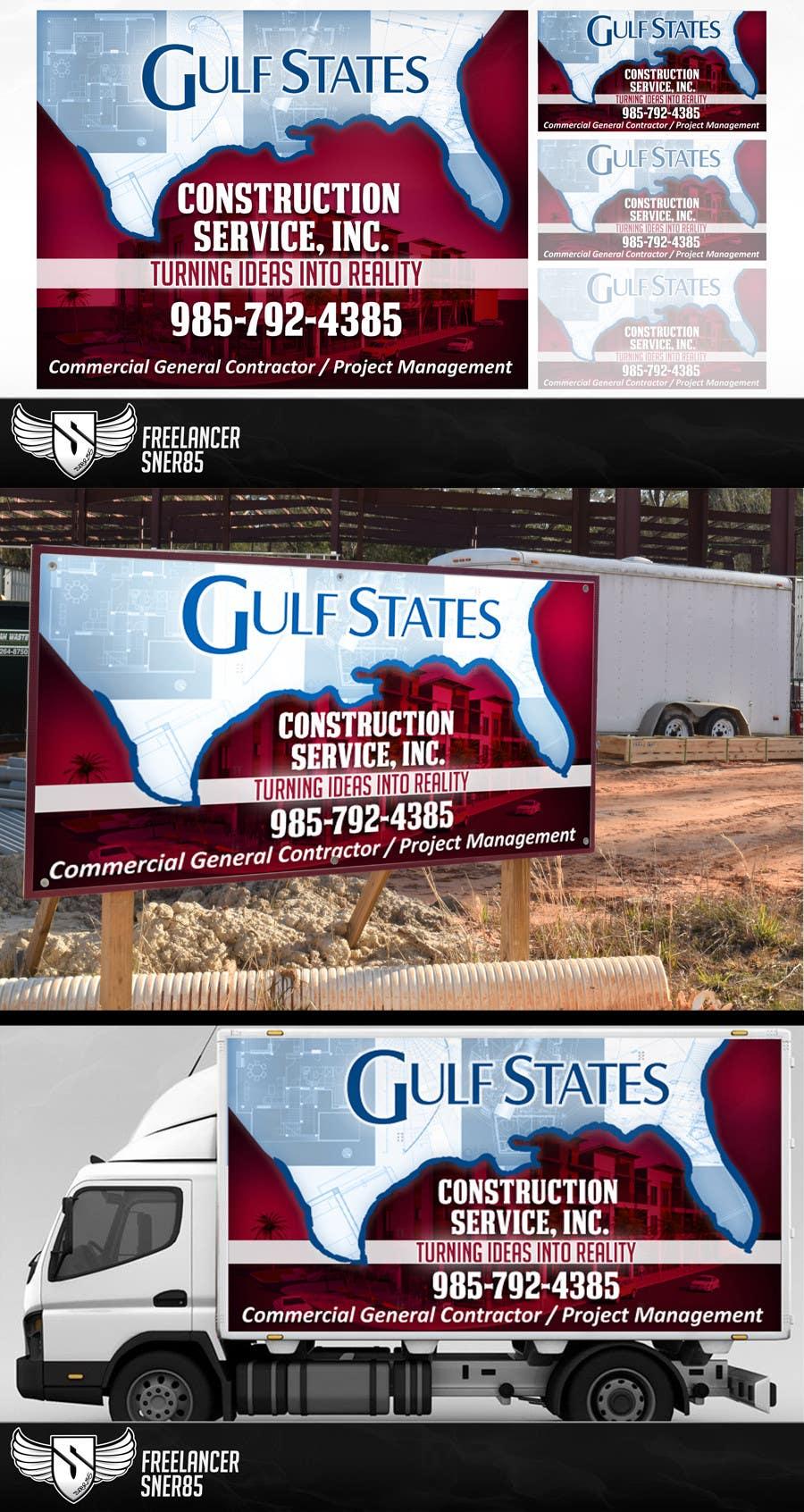 Kilpailutyö #12 kilpailussa Design a Construction Company's Sign