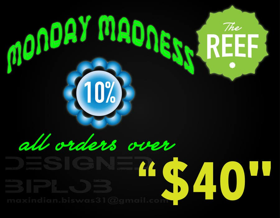 Contest Entry #                                        2                                      for                                         The Reef- In Store Graphics