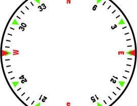 Nro 23 kilpailuun Draw an airplane compass käyttäjältä danesebastian