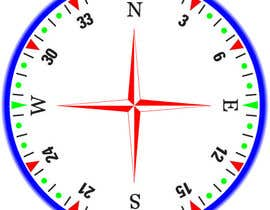 #34 for Draw an airplane compass by Naseem065
