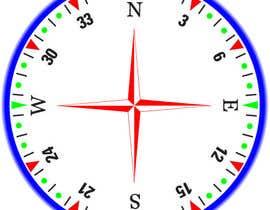 Nro 34 kilpailuun Draw an airplane compass käyttäjältä Naseem065
