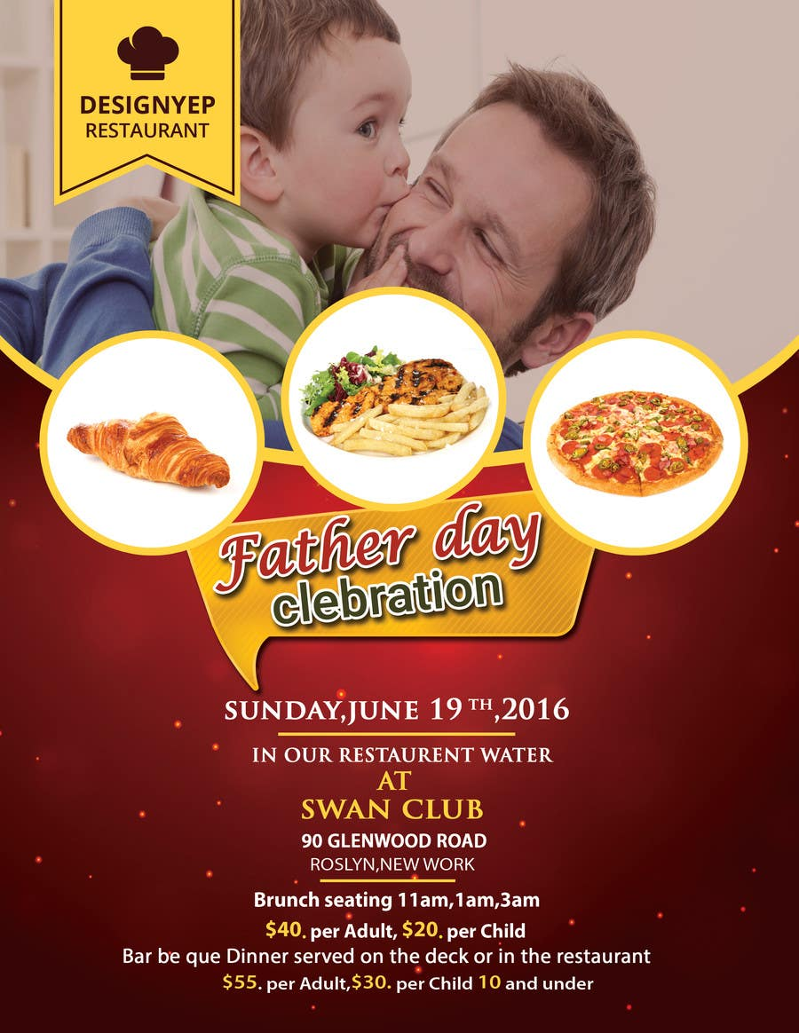 Contest Entry #                                        14                                      for                                         Father's Day Flyer for our Restaurant