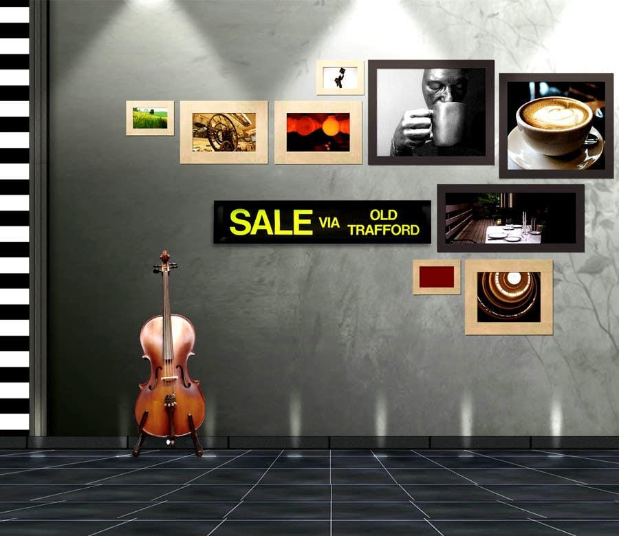 Konkurrenceindlæg #80 for Photoshop artwork into frame & onto wall.