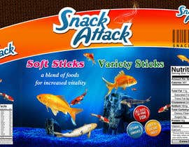 #22 untuk Label Design for Snack Attack - A new Fishfood label oleh harjeetminhas