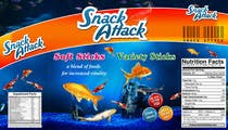 Label Design for Snack Attack - A new Fishfood label için Graphic Design23 No.lu Yarışma Girdisi