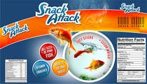 Label Design for Snack Attack - A new Fishfood label için Graphic Design7 No.lu Yarışma Girdisi