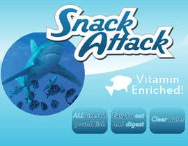 #6 untuk Label Design for Snack Attack - A new Fishfood label oleh paidlancer1