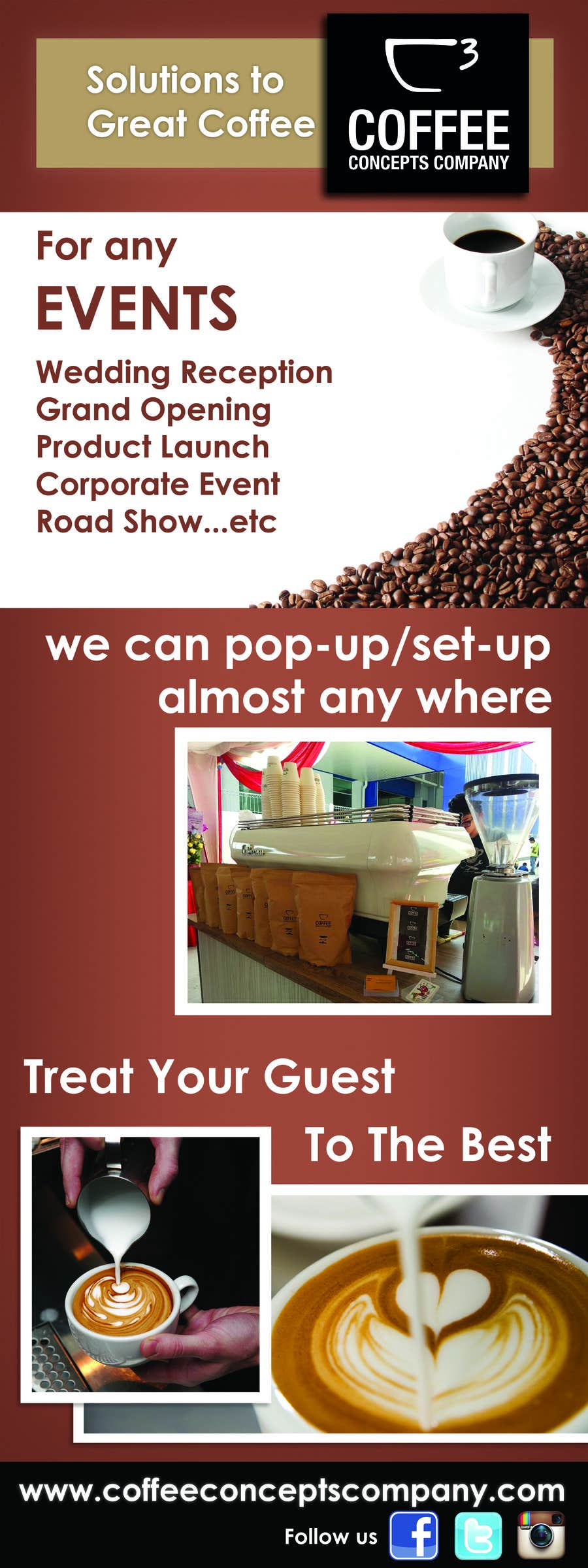 #11 for Design a Pull Up Banner for a Coffee Business by karunrams