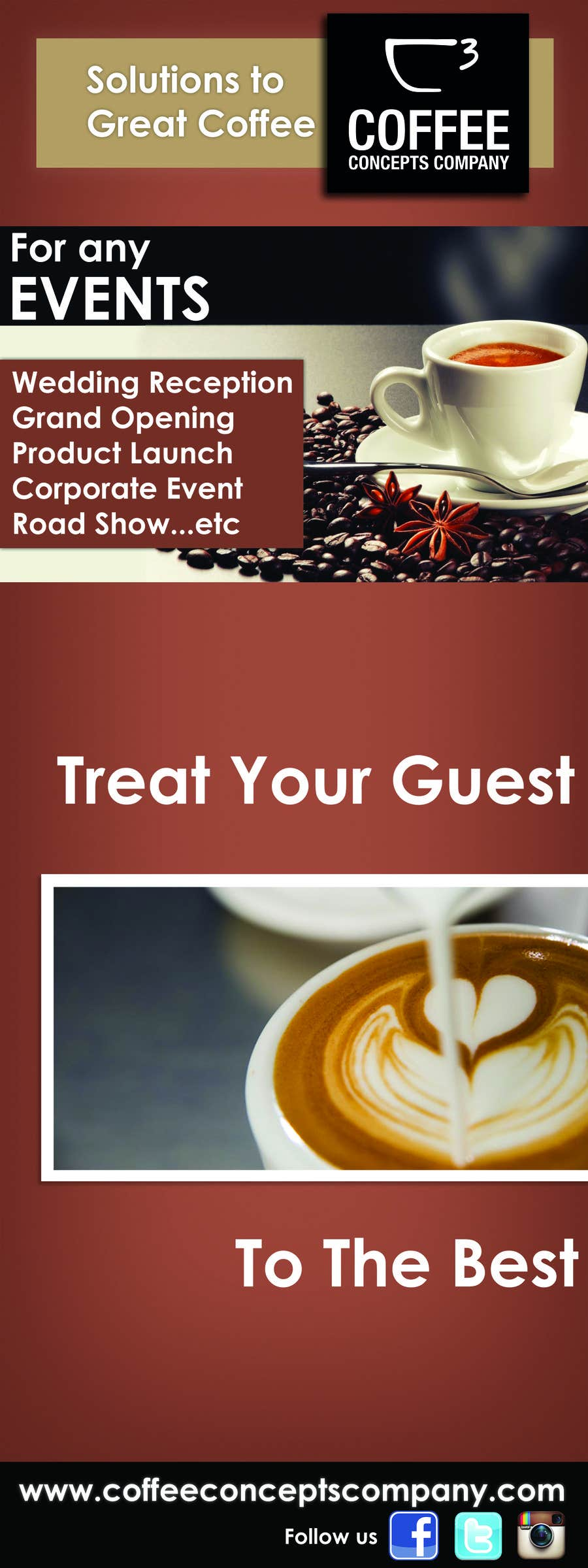 #13 for Design a Pull Up Banner for a Coffee Business by karunrams