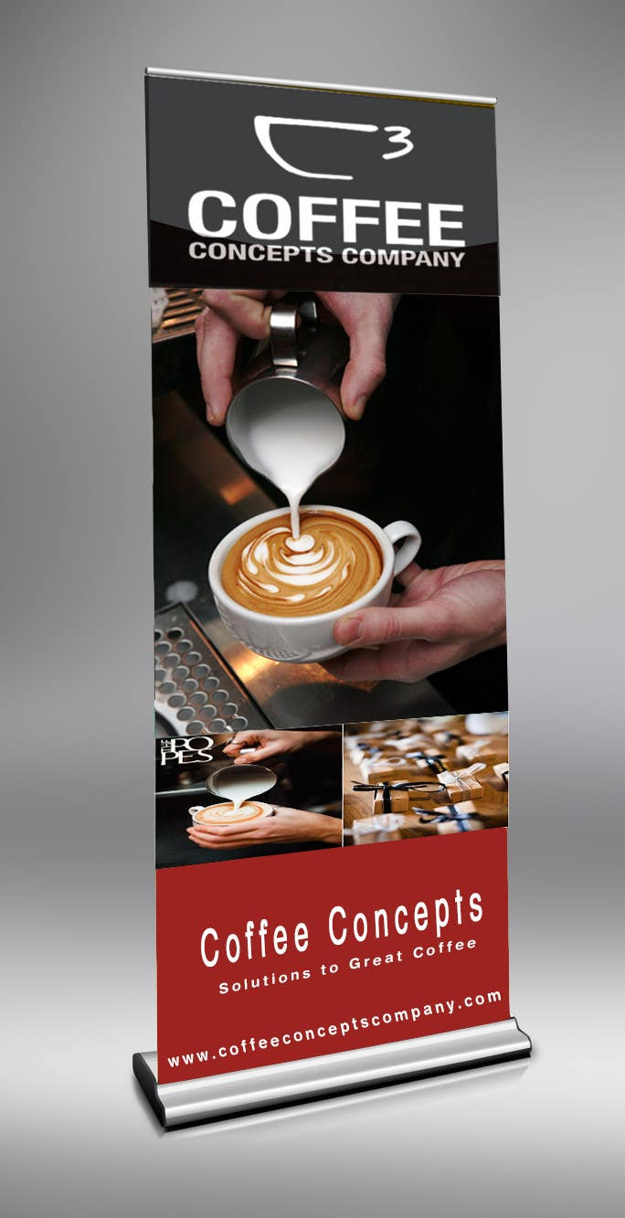 #5 for Design a Pull Up Banner for a Coffee Business by jamshaidrazaCG