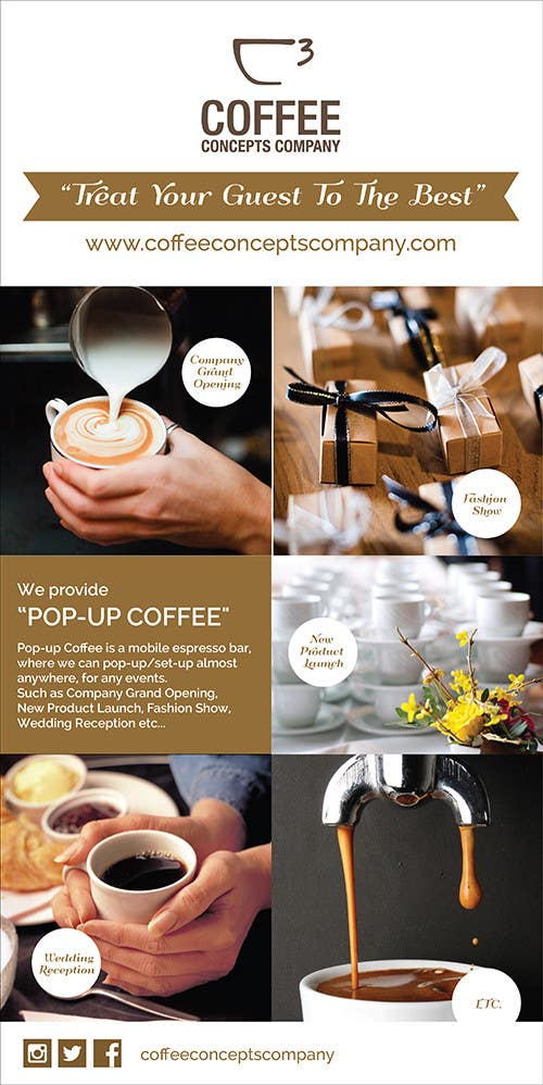 #35 for Design a Pull Up Banner for a Coffee Business by noninoey