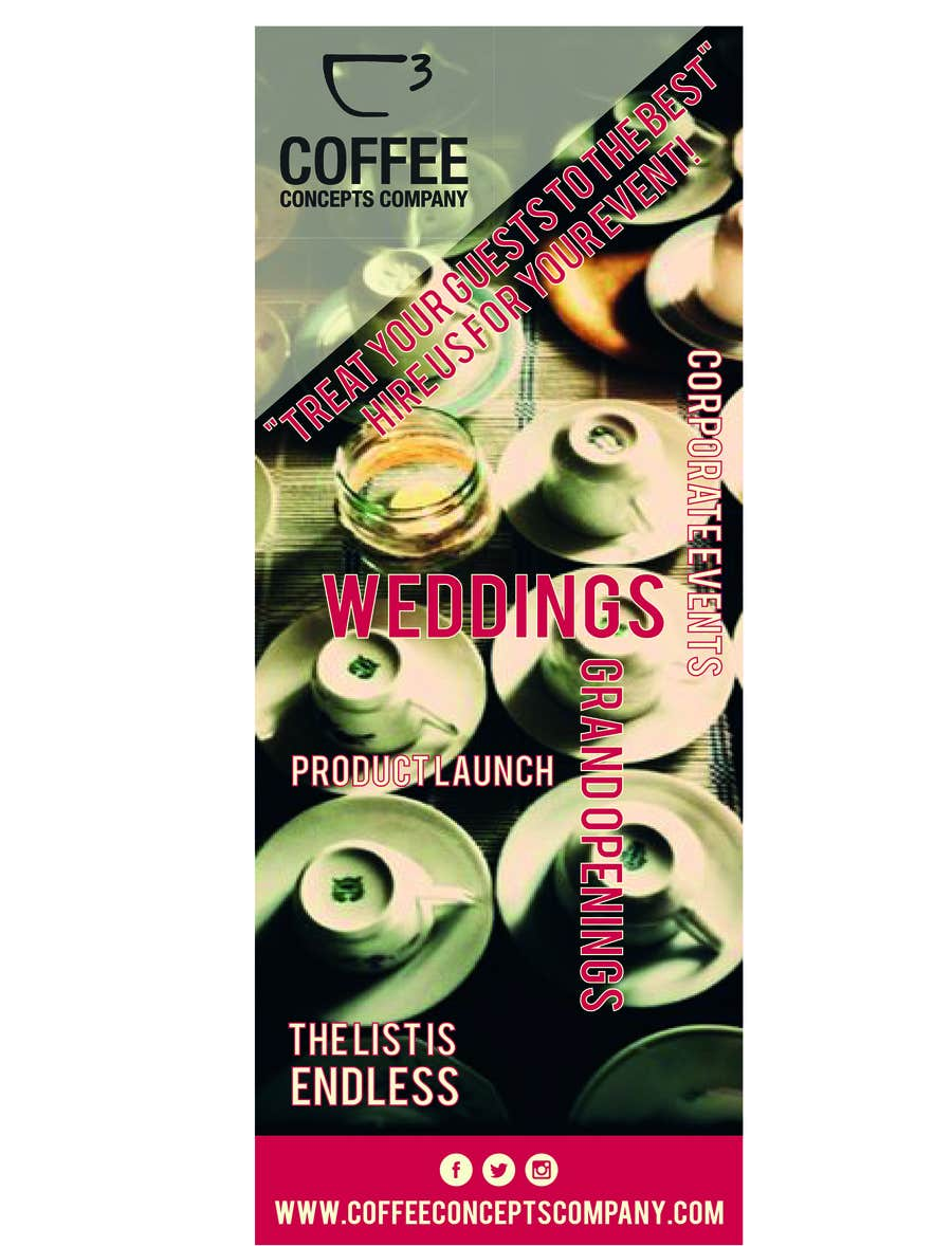 #8 for Design a Pull Up Banner for a Coffee Business by asheedesign