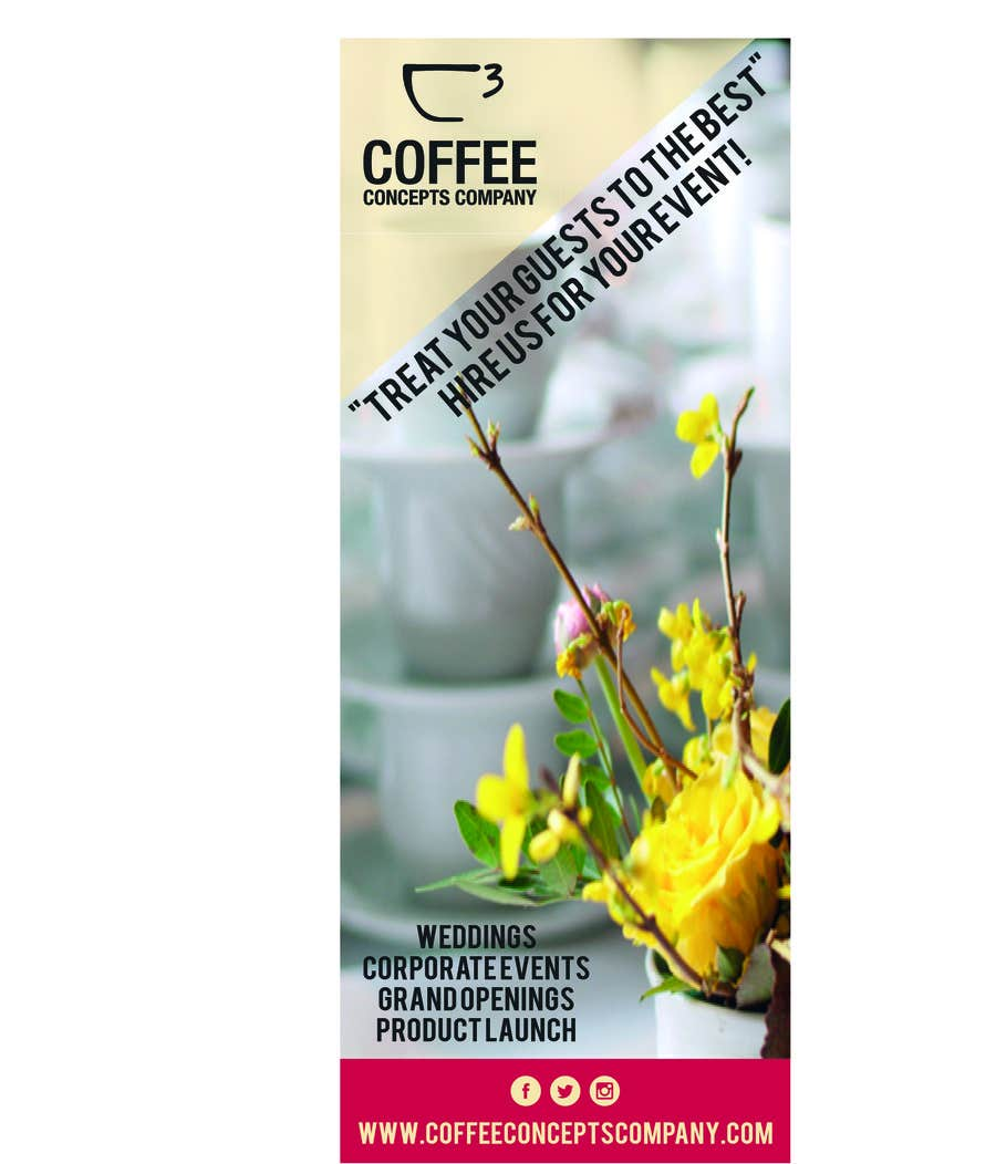 #14 for Design a Pull Up Banner for a Coffee Business by asheedesign