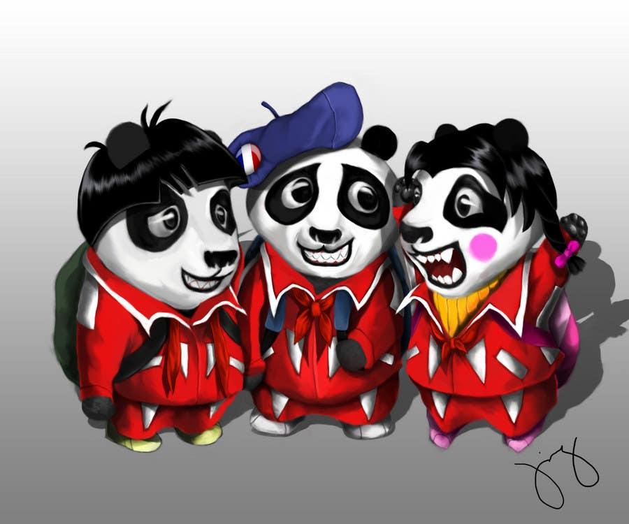 Inscrição nº 76 do Concurso para Illustration Design for Animation illustration for Panda cubs.