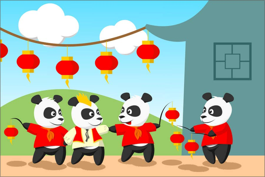 Contest Entry #47 for Illustration Design for Animation illustration for Panda cubs.