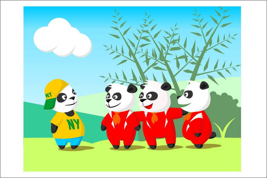 Contest Entry #11 for Illustration Design for Animation illustration for Panda cubs.