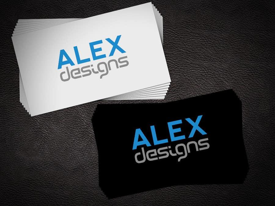Penyertaan Peraduan #28 untuk Design a Logo for Alex Designs