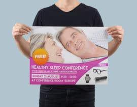 Nro 7 kilpailuun Design a Banner for healty sleep conference käyttäjältä morfinamc