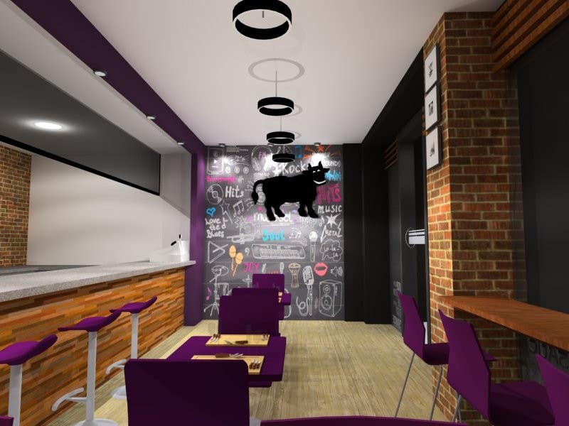 Entry 6 by lizgonra for 3d max render for a small fast for Restaurant 3d max