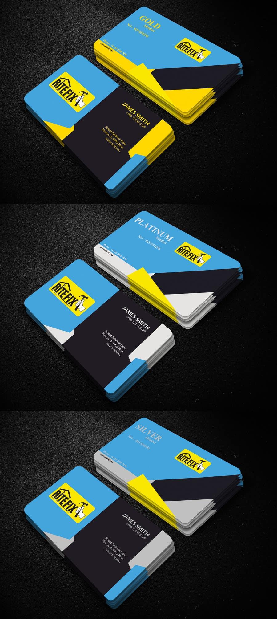 Kilpailutyö #12 kilpailussa Design member ship cards for my company