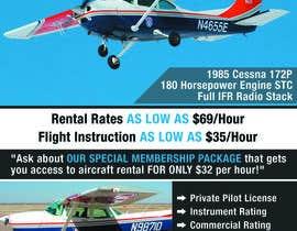 Nro 17 kilpailuun Design flyer for Aircraft Rental käyttäjältä jessikaguerra