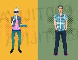 avijitsil009 tarafından Design 4 characters - 2 male and 2 female için no 8