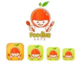 PhongDesigner tarafından Design a logo and name for a foodie app için no 129