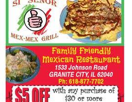 "Nro 21 kilpailuun Design Small Print Ad for Mexican Restaurant Ad (2.6"" x 2.6"") käyttäjältä sarahwinsor"