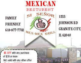 """Nro 4 kilpailuun Design Small Print Ad for Mexican Restaurant Ad (2.6"""" x 2.6"""") käyttäjältä photomaster070"""