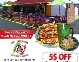 "Nro 6 kilpailuun Design Small Print Ad for Mexican Restaurant Ad (2.6"" x 2.6"") käyttäjältä AndradaDiana"