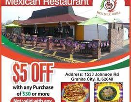 """Nro 10 kilpailuun Design Small Print Ad for Mexican Restaurant Ad (2.6"""" x 2.6"""") käyttäjältä jawadbhatty"""