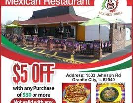 """Nro 11 kilpailuun Design Small Print Ad for Mexican Restaurant Ad (2.6"""" x 2.6"""") käyttäjältä jawadbhatty"""
