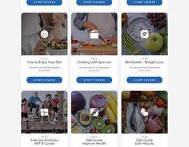 Nro 58 kilpailuun Design a Website Mockup - Training Course Platform käyttäjältä AriannaSarvag