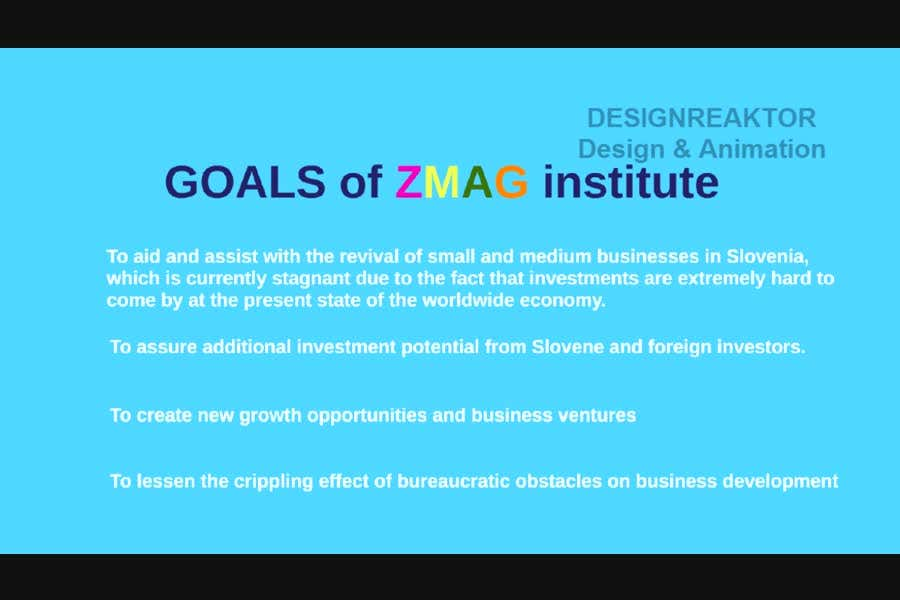 #10 for Create a Video presentation for ZMAG institute by designreaktor