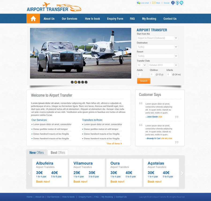 #2 for Website design for Airport Transfer by iNoesis