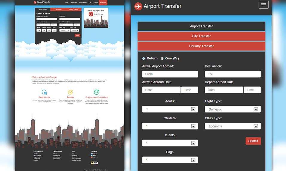 #13 for Website design for Airport Transfer by andviel