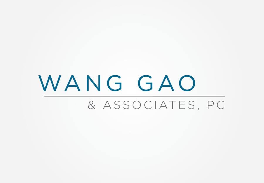Contest Entry #23 for Design a Logo for Wang Gao & Associates, PC.