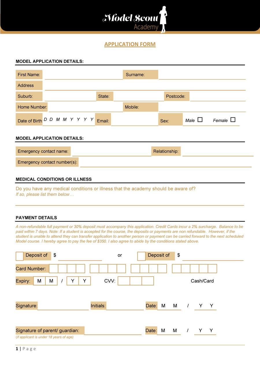 Design application form | Freelancer
