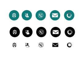 plaboneee123 tarafından Design 4 Icons for our Contact us page için no 5