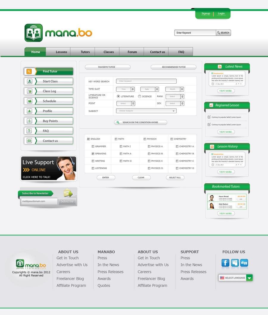 Contest Entry #                                        66                                      for                                         Website Design for mana.bo