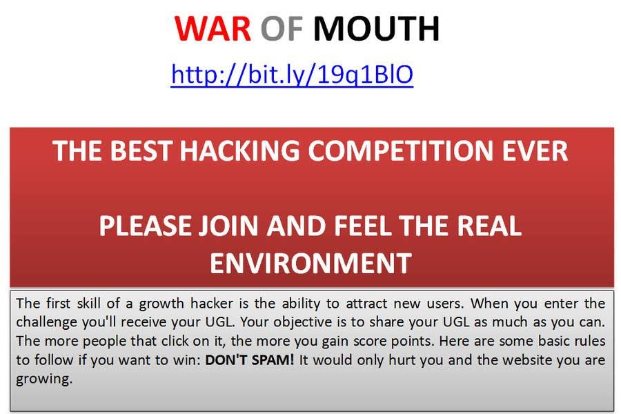 Kilpailutyö #8 kilpailussa WOM - Prove your growth hacking skills (3rd place)